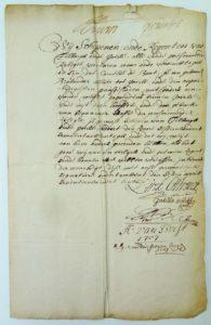 de aanbevelingsbrief voor Cornelis de Bont door zijn collega-schepenen (RAT toeg. 3, inv. no. 877)