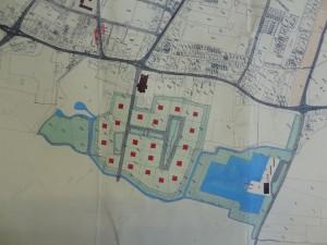 Kaart bij het gemeentelijk structuurplan uit 1958
