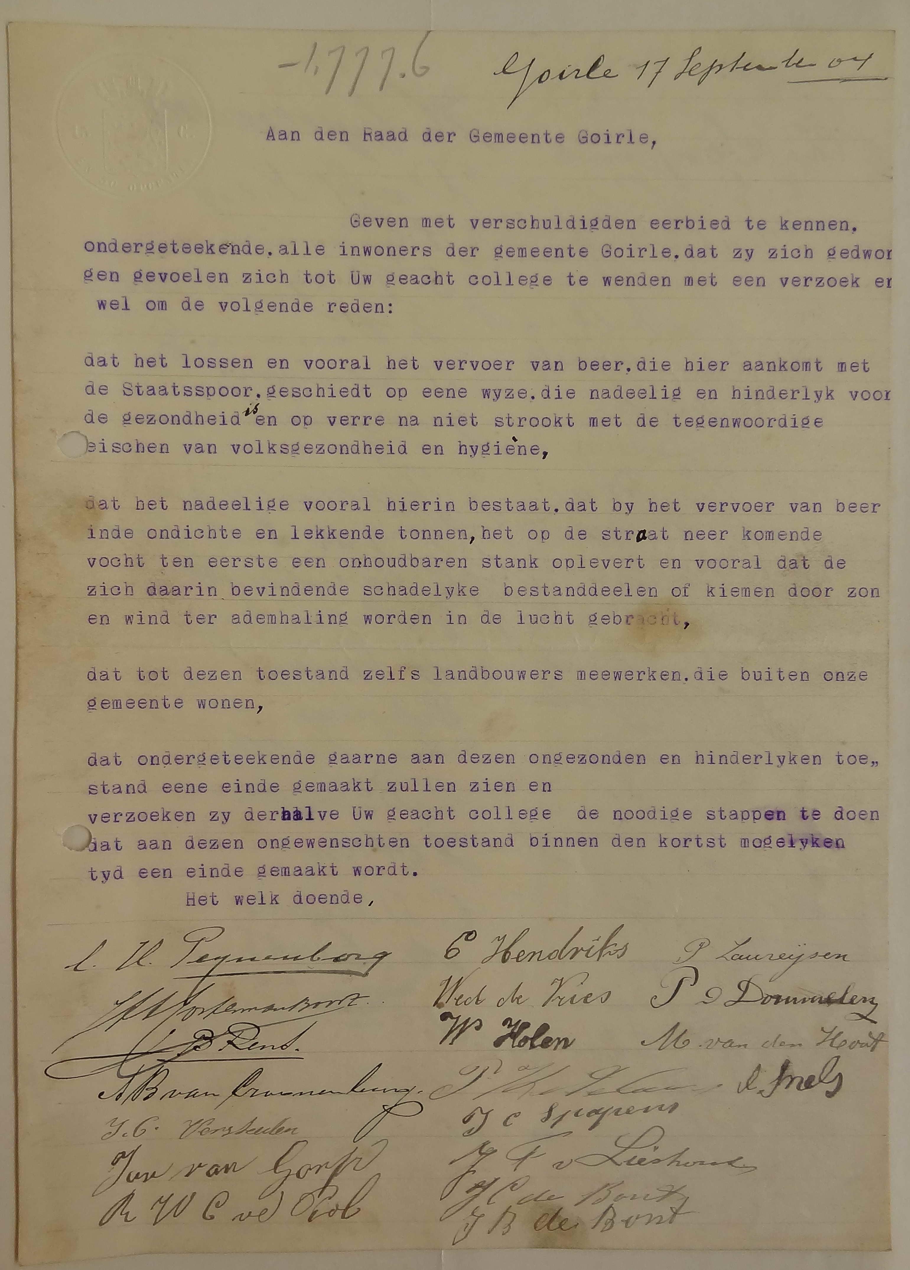 Handtekeningenactie1