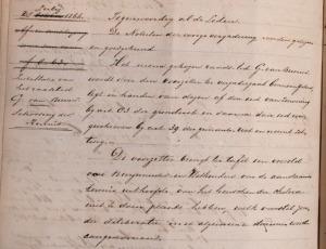 Notulen van de Goirlese gemeenteraad d.d. 28 juli 1866 (RAT, 696, inv. no. 5).