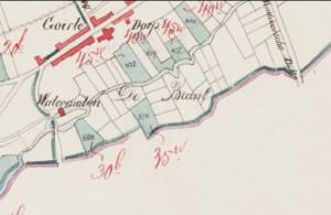 Kadastrale kaart met de watermolen (±1820)