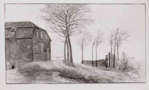 Pentekening door kapitein Gevers van Endegeest, 1830